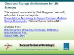 cloud and storage architectures for life sciences