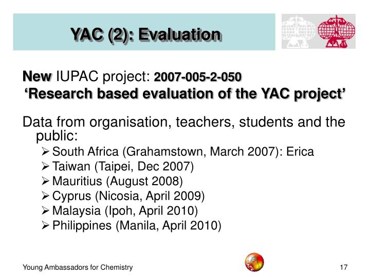 YAC (2): Evaluation