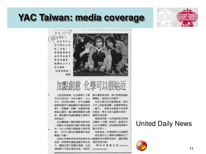 YAC Taiwan: media coverage