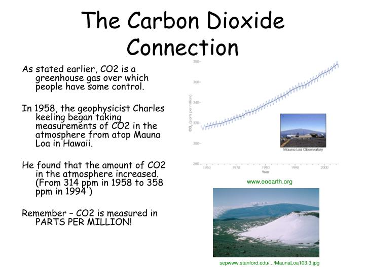 As stated earlier, CO2 is a greenhouse gas over which people have some control.
