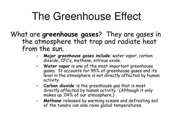 The greenhouse effect1