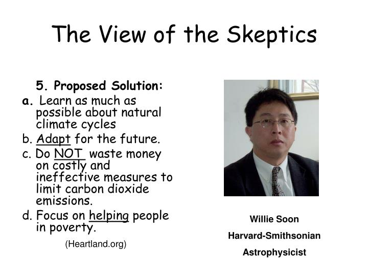 The View of the Skeptics