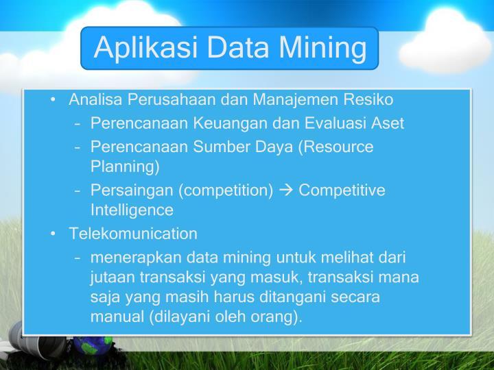 Aplikasi Data Mining
