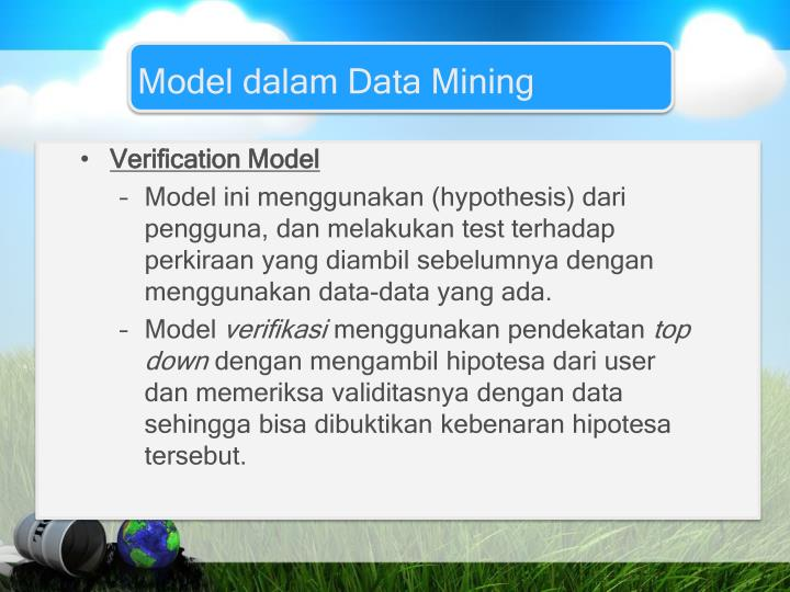 Model dalam Data Mining