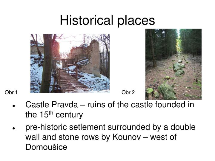 Historical places