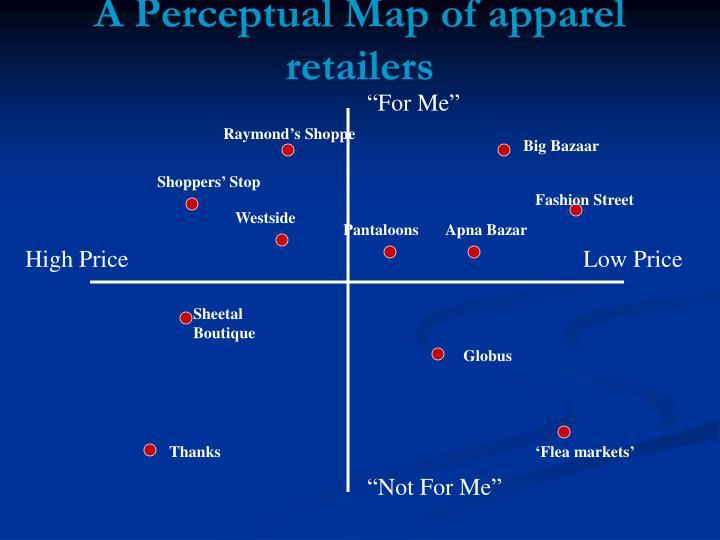 A Perceptual Map of apparel retailers