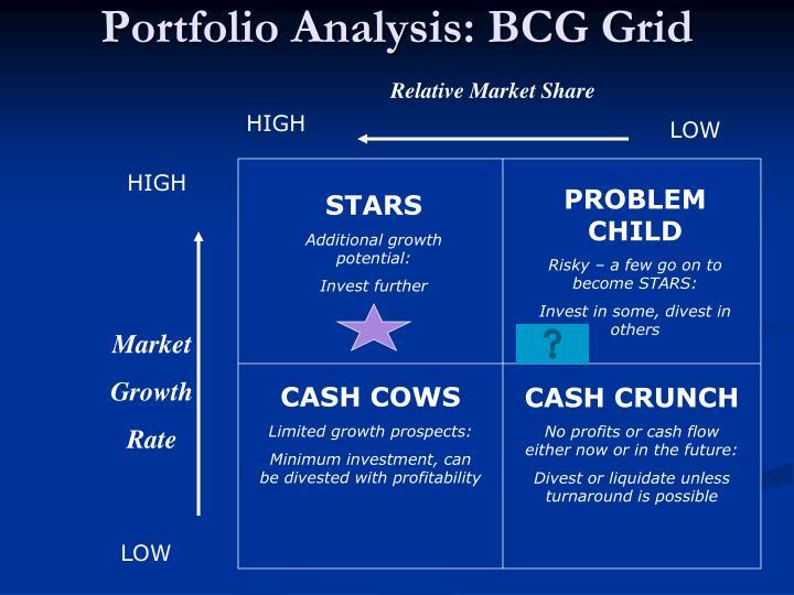 Portfolio Analysis: BCG Grid