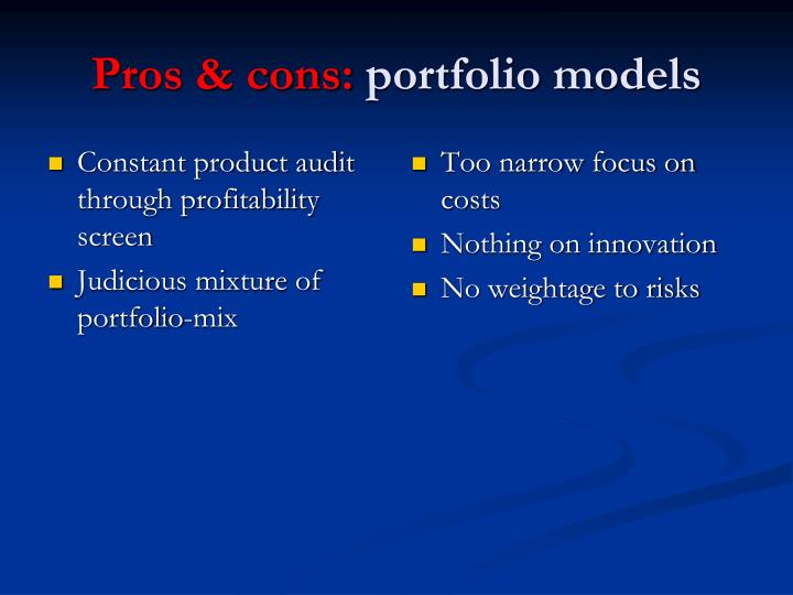 Constant product audit through profitability screen