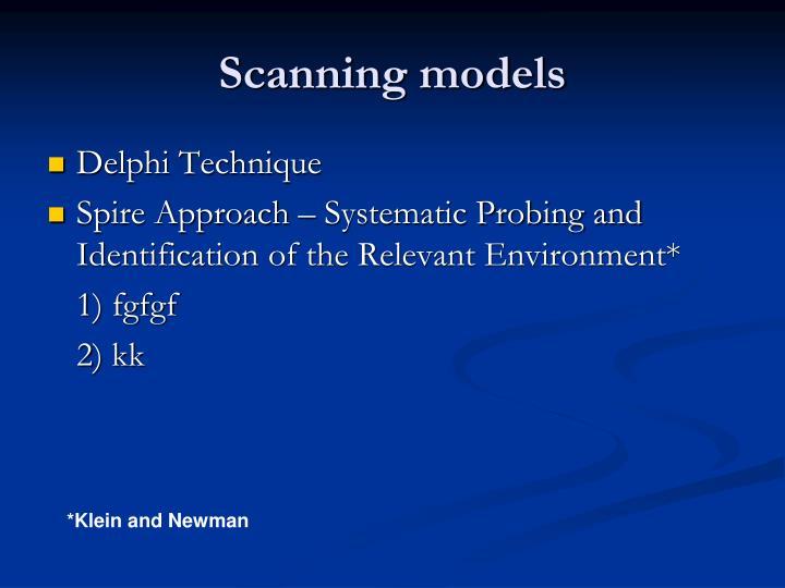 Scanning models