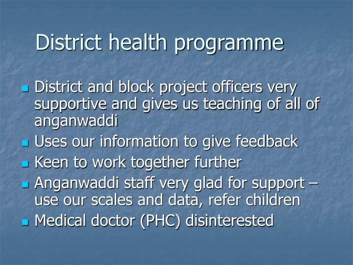 District health programme