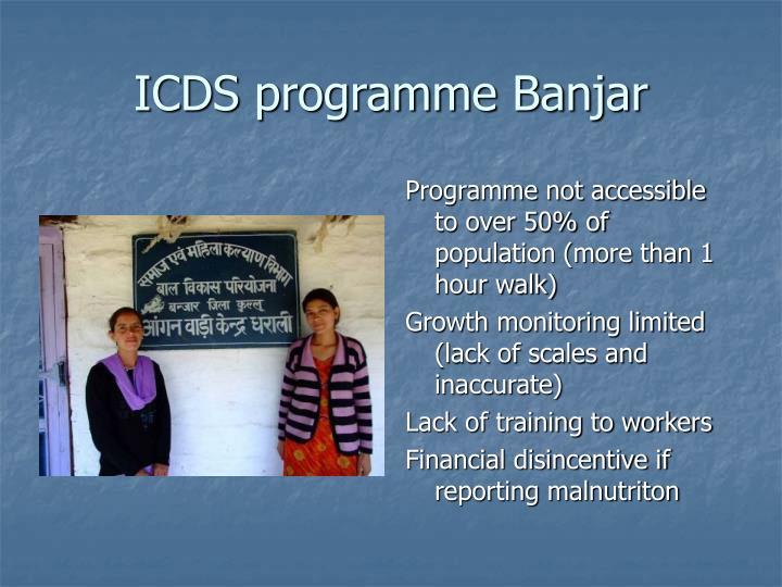 ICDS programme Banjar