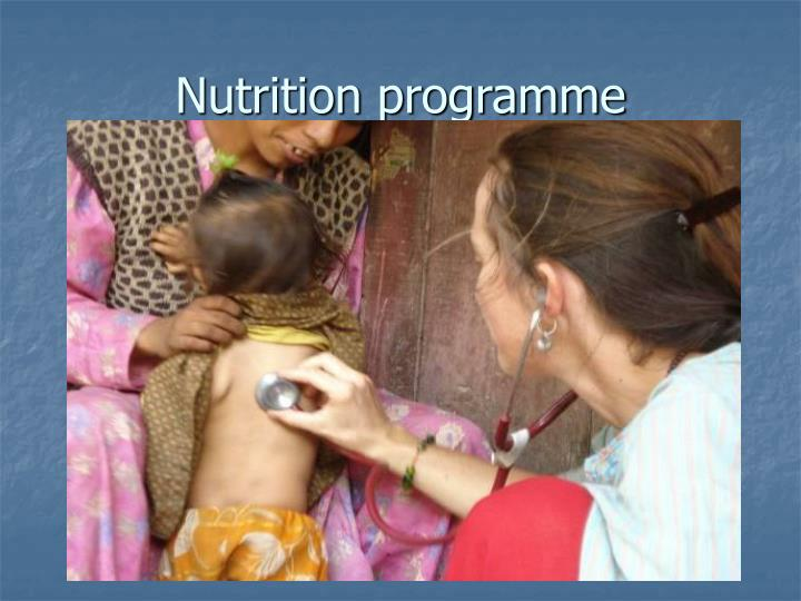 Nutrition programme