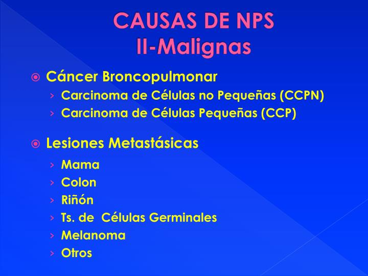 CAUSAS DE NPS