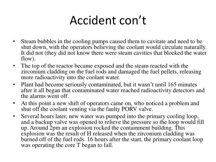Accident con't