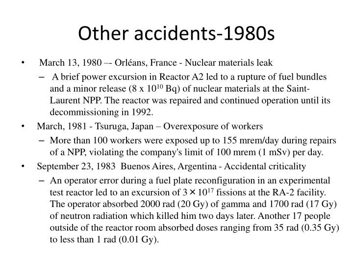 Other accidents-1980s