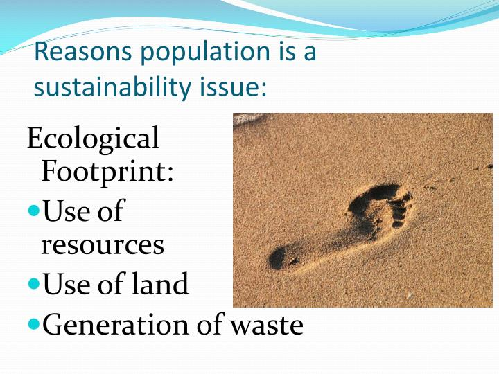 Reasons population is a sustainability issue: