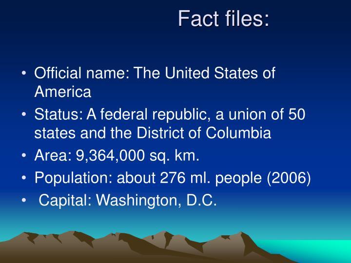 Fact files: