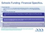 schools funding financial specifics