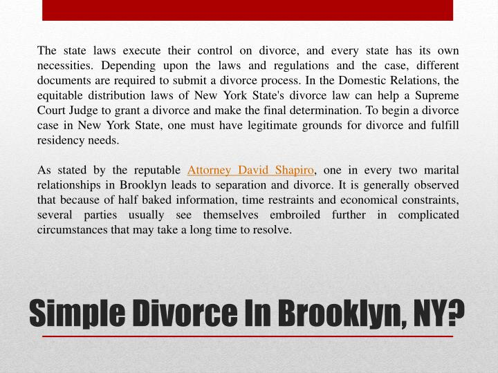 Simple divorce in brooklyn ny