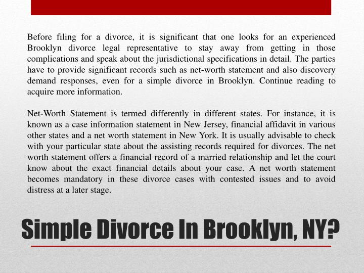 Simple divorce in brooklyn ny1