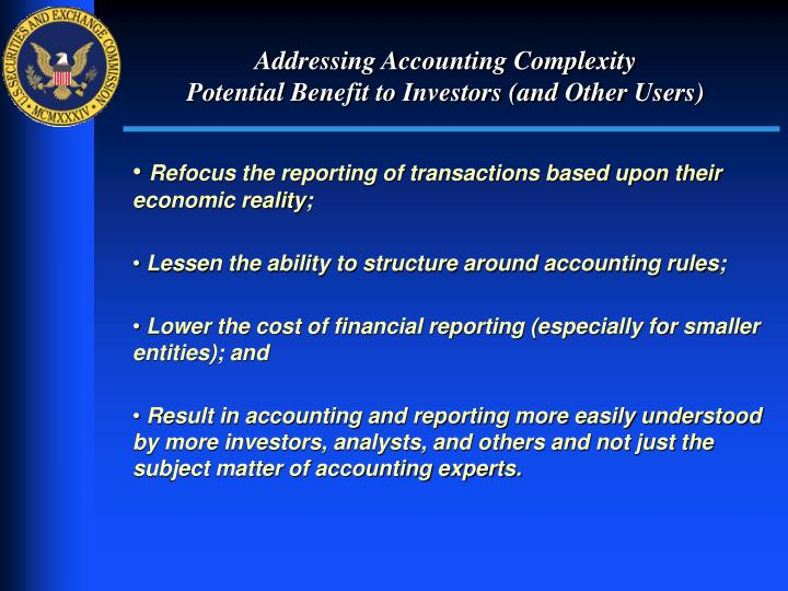 Addressing Accounting Complexity