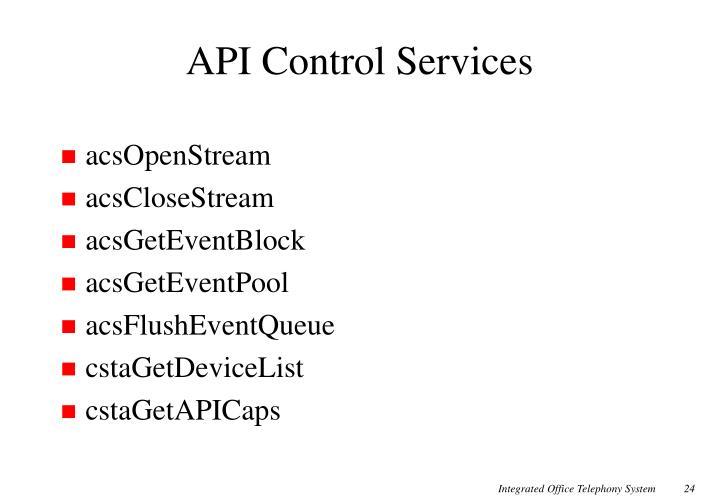 API Control Services