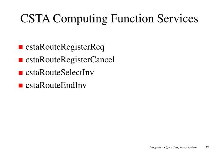 CSTA Computing Function Services