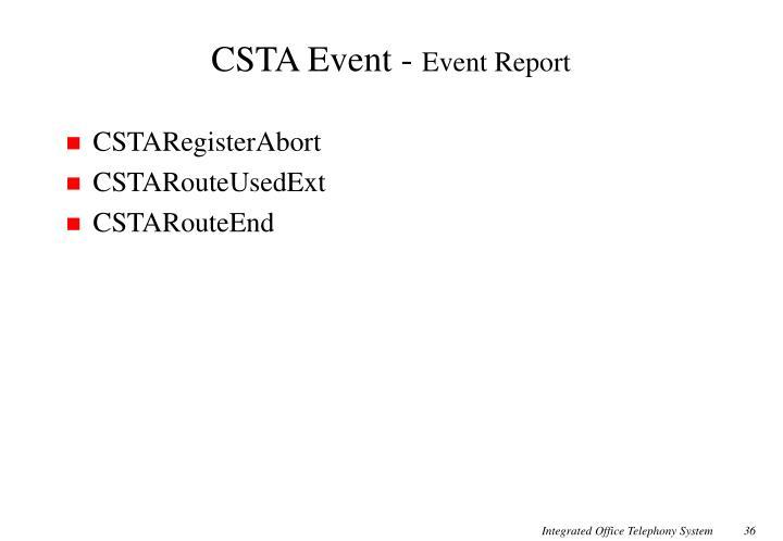 CSTA Event -
