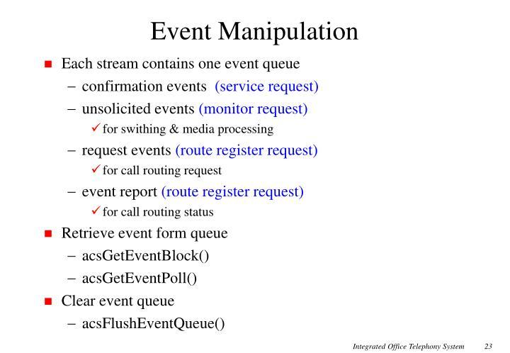 Event Manipulation