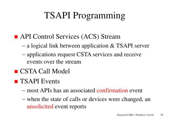 TSAPI Programming