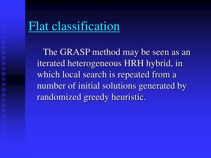 Flat classification