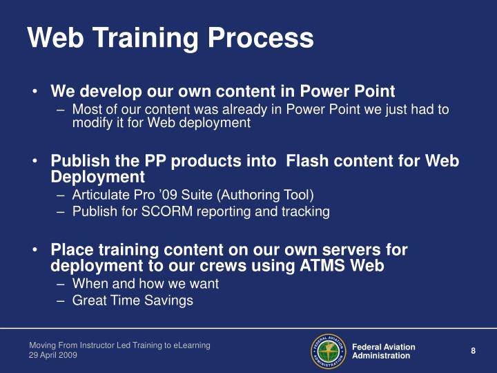Web Training Process