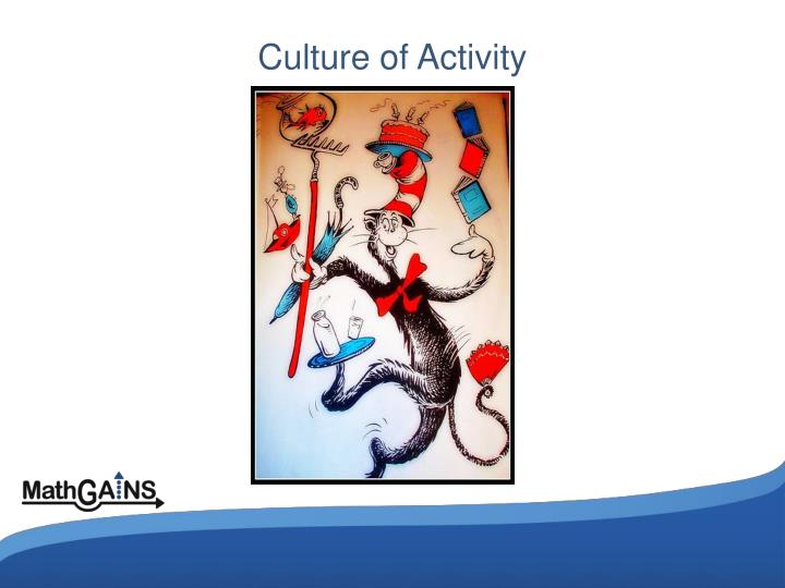 Culture of Activity