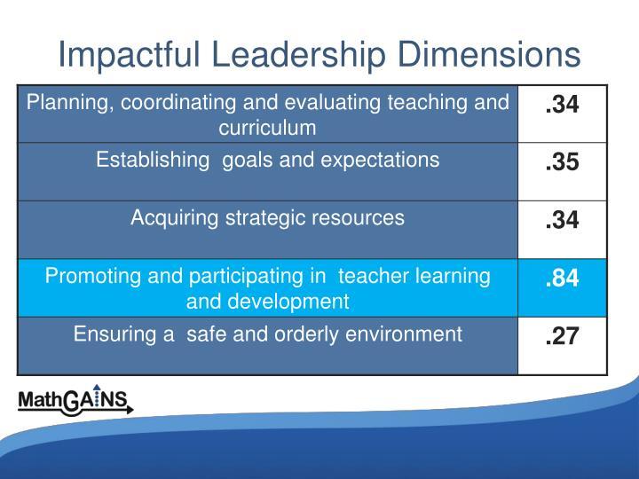 Impactful Leadership Dimensions