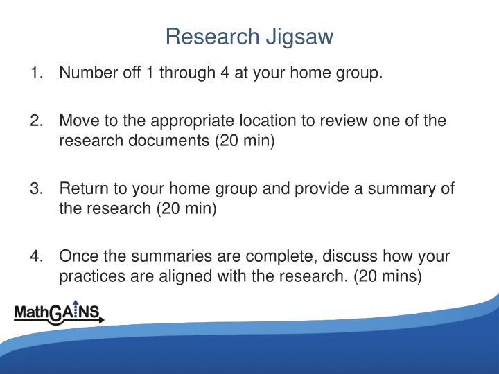 Research Jigsaw