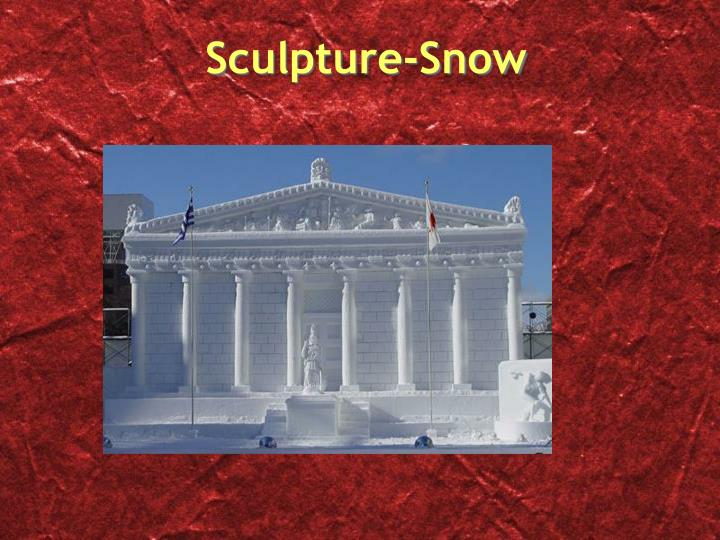 Sculpture-Snow