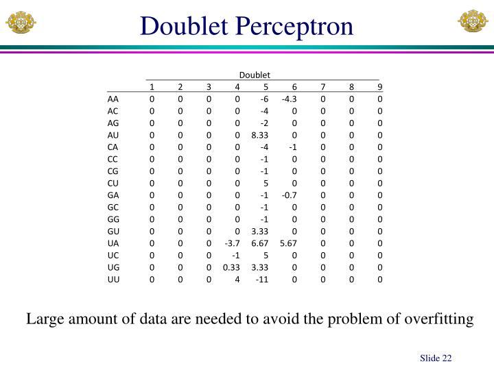 Doublet Perceptron