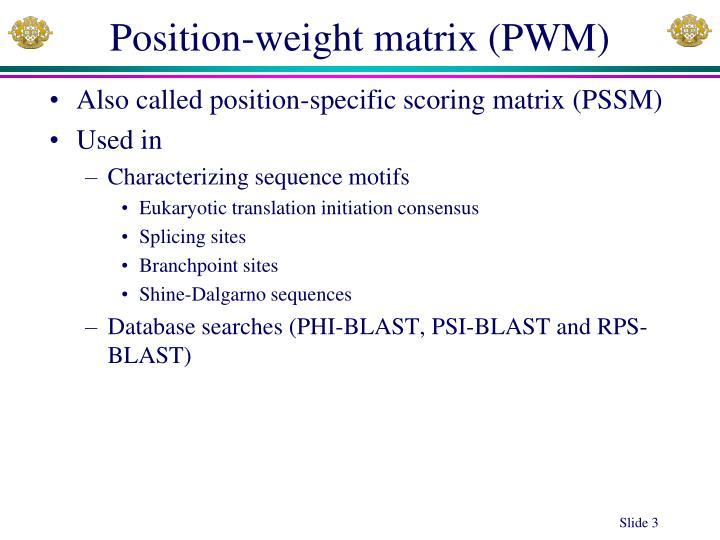 Position-weight matrix (PWM)