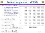 position weight matrix pwm1