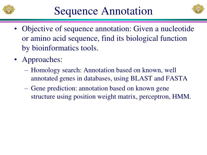 Sequence annotation
