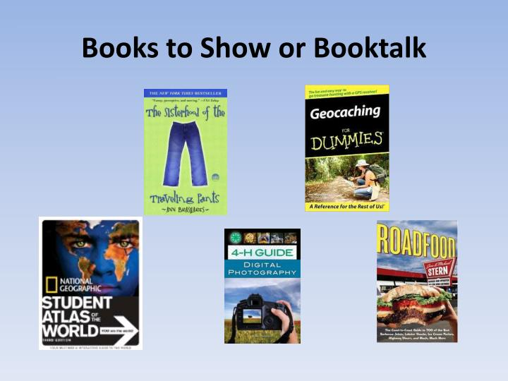 Books to Show or Booktalk