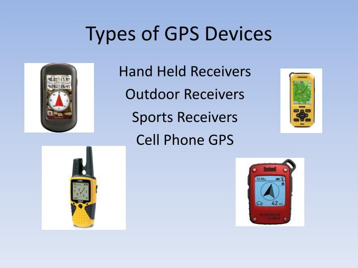 Types of GPS Devices