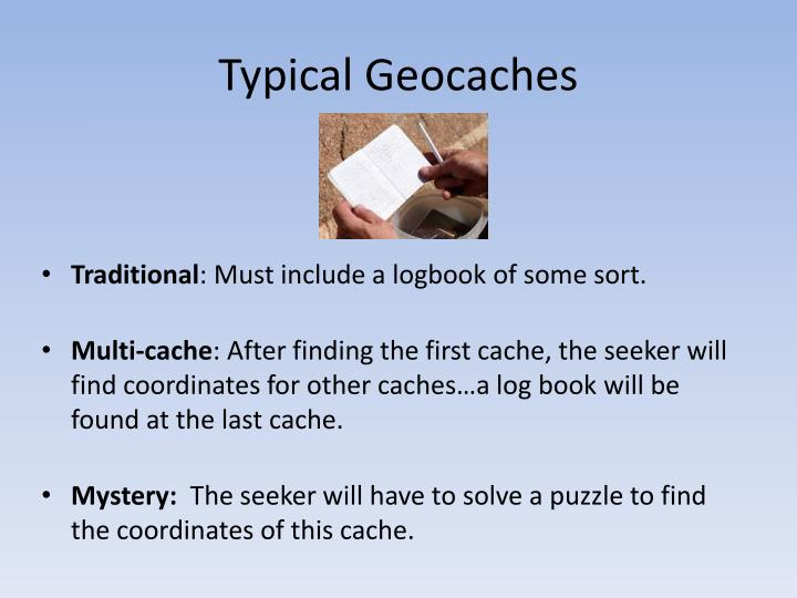 Typical Geocaches