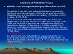 analysis of preliminary data11