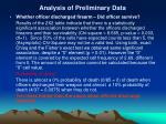 analysis of preliminary data13