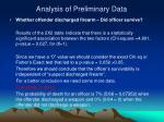 analysis of preliminary data5