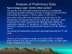 analysis of preliminary data9