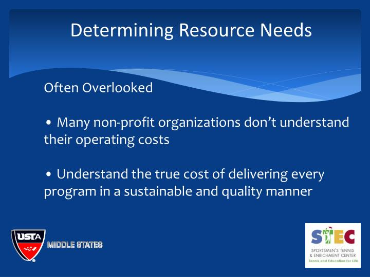 Determining Resource Needs