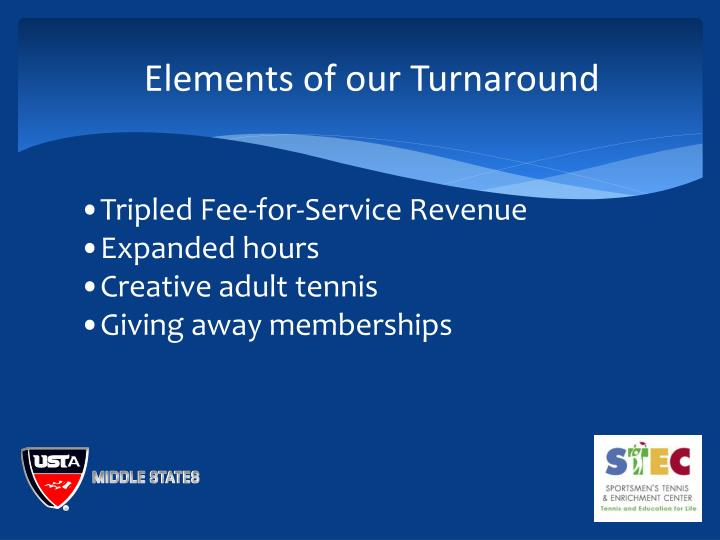 Elements of our Turnaround