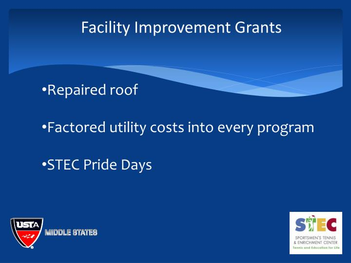 Facility Improvement Grants
